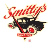 Smitty's Speed Shop logo developed by Peters Illustration